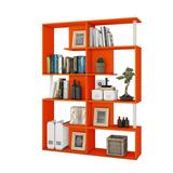 Mueble Librero Repisas Salas Oficina Barato Juls Naranja