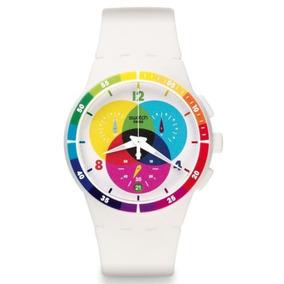 Reloj Swatch Analógico C/cromógrafo Unisex Susw404
