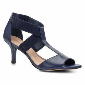 Sandália Shoestock Salto Fino Elásticos Feminina