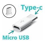 10 Adaptador Otg Conversor V8 Micro Usb Para Type C Atacado