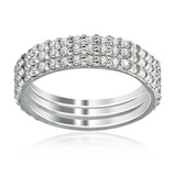 Sterling Silver White Cz Cubic Zirconia Eternity Love Mat