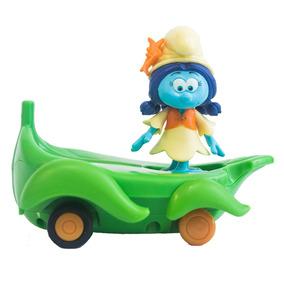 Veículo Com Mini Figura - Smurfs - Smurflily E Leafboard - S