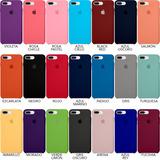Funda Silicón iPhone 6-6p / 7-7 Plus / 8-8 Plus - 21 Colores
