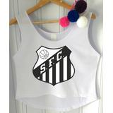 Blusa Cropped Feminina Santos Futebol 2018 Regata Cavada f8cebda012395