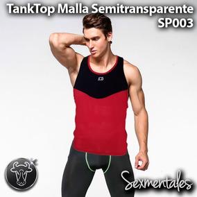 Tank Top Gym Transparente Malla Sp003 Sexmentales 3aa7389336da9