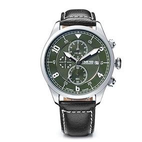 Time100 Mens Luminous Chronograph Calendar Quartz Watch With