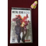 Metal Gear Acid Psp En Buenas Condiciones :)