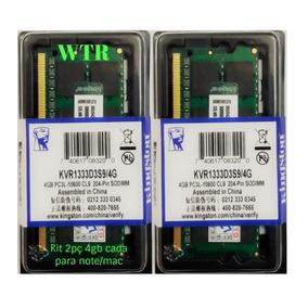 Kit 2 Memória Kingston Ddr3l 1333mhz 4gb Note/mac Lowvoltage