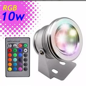 Refletor Piscina Holofote Super Led Rgb 10w Subaquático 12v