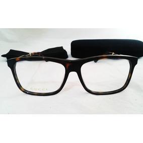 Lentes Gucci Oftalmicos Gg03030 Armazon 55mm Carey Dorado
