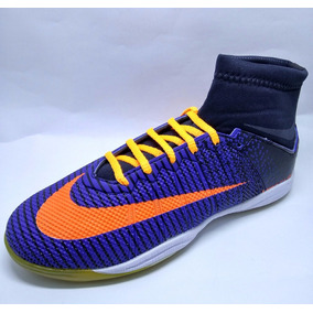 3210303bf31b1 Tenis Futsal Nike Mercurial Cr7 - Chuteiras para Futsal Azul no ...