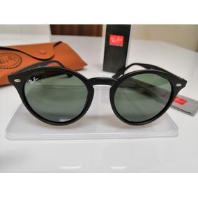 Óculos De Sol Ray-ban Rb2180 Round Preto E Lentes Verdes G15 7916e9cbc2