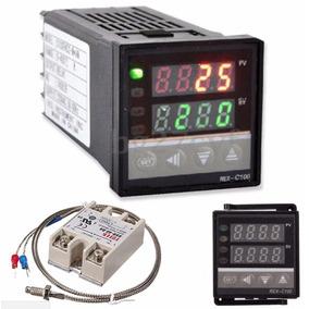 Controlador Temperatura + Relé Estado Sólido 40a + Termopar
