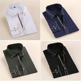 Camisa Social Masculina Slim Fit Luxo Importada Vários Cores