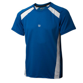 Polo Para Niños Wilson - T-shirt Tour Inf M Azul - Tenis