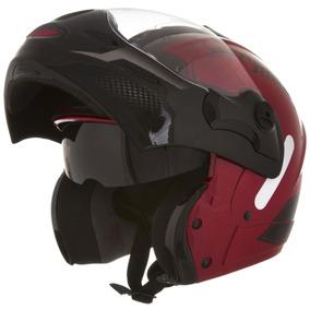 Capacete Moto Escamoteável Mixs Street Rider Vermelho 53dd57e4eda