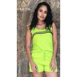 3 Conj. Regata + Short Verde Limão | Varda Clothing