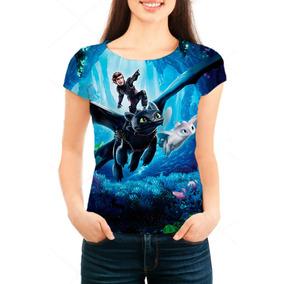 Camiseta Babylook Feminina Como Treinar Seu Dragão 3 - Mn03