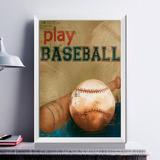 Baseball Branca A4 (21.0 X 29.7 Cm) Cor Da Moldura: Bra...