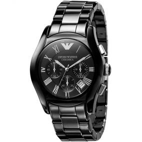 Relógio Emporio Armani Masculino Cerâmica Original Nf Ar1400