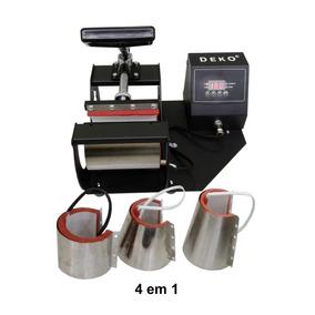 4 Em 1 Prensa Termica Digital Caneca Copo Long Drink 220volt