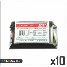 Kit 04 Transformador Eletrônico Para Dicroica 50w 127v