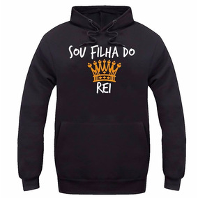 Moletom Sou Filha Do Rei Gospel Blusa De Frio Casaco