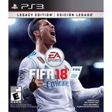 Fifa 18 Legacy Edition Ps3 Juego Original Fisico Sellado Cd