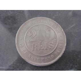 Moeda Estados Unidos Do Brasil 200 Reis 1889