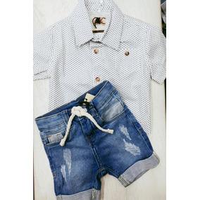 Camisa Social Bebe 6 Mes - Roupas de Bebê no Mercado Livre Brasil 56a3a70e74f