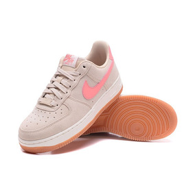 wholesale dealer a8283 78489 Zapatillas Mujer Nike Air Force 1 Beige Rosa