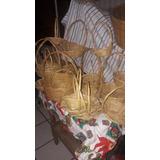 Lote Canasta De Carrizo Y Bambu Lote De 72 Piezas