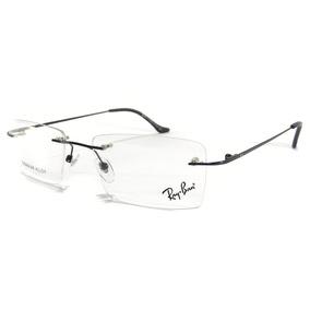 c05a41ef54beb Armação Masculino Oculos Grau Ls220 Sem Aro Titanio Origin