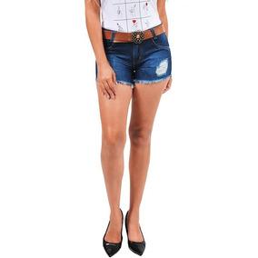 Short Jeans Kit 4 Peças Feminino Do 2 Até 44 Infantil Adulto