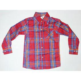 Camisa Social Infantil Menino Os Vaqueiros Xadrez Vermelha 8591cb1ff1a