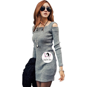 Vestido Moda Coreana Tipo Sueter Sweater Kawaii Mod.r187