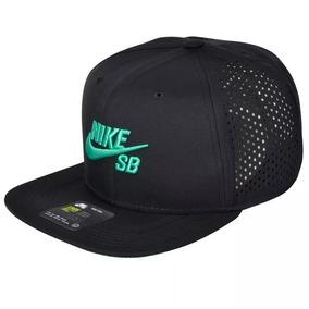 Boné Nike Sb Snapback Icon Pro - Preto verde fe005c3b67a