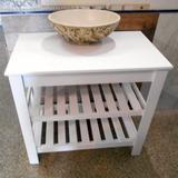 Mueble Baño Mesa Maral Deck Blanco Laqueado Para Apoyo 80cm