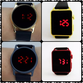 2af4c4050e0 Lote 10 Relógio Unissex Led Touch Screen Pulseira Silicone