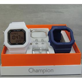 110b3f526e2 Relógio Champion Yot Troca Pulseira Cp40180x Marinho branco