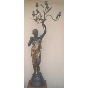 Helena De Petit Bronze Com 6 Luminarias ( Cod 237 G2 )