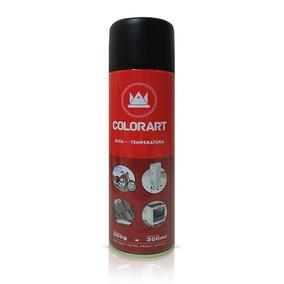 Tinta Spray Preto Alta Temperatura Motor Escapamento 600ºc