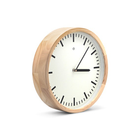 Reloj De Pared Madera Woody Gato