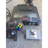 Nintendo 64 Smoke Con Nascar Palanca Cables Originales