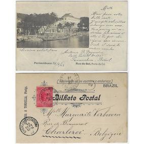 Pe 1903 Cartão Postal Foto Rua Do Sol Portal Da Cal Recife
