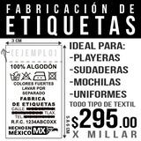 Etiqueta Para Ropa / Instrucciones De Lavado / Textiles