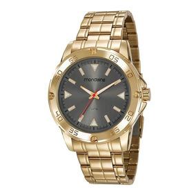 Relógio Dourado Banhado A Ouro Mondaine 83458gpmvde2