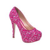 a17d131b48 Sapato Scarpin Peep Toe Rosa Pink Debutante 15 Anos Alto Fin