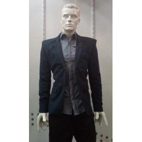 78324739405d9 Saco Azul Marino Slim Fit Para Caballero Franjas En Cuello
