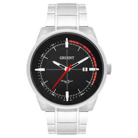 Relógio Orient Aço Prata Ponteiro Vermelho Mbss1295 5atm
